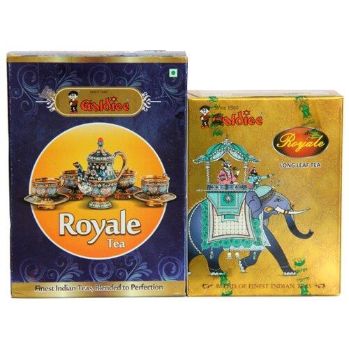 Чай черный Goldiee Крупнолистовой Long Leaf Tea и Гранулированный Royale Tea, набор