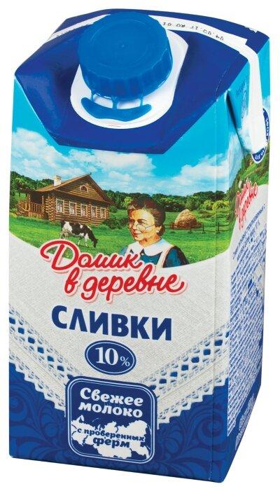 Сливки Домик в деревне стерилизованные 10%, 480 г