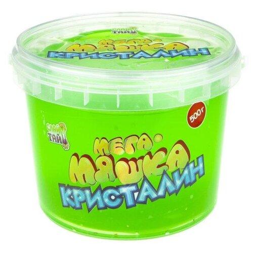 Лизун 1 TOY Мега-Мяшка Кристалин зелeный