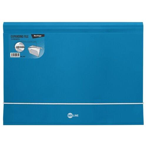 Купить Berlingo Папка на резинке Skyline А4, 13 отделений, пластик синий, Файлы и папки