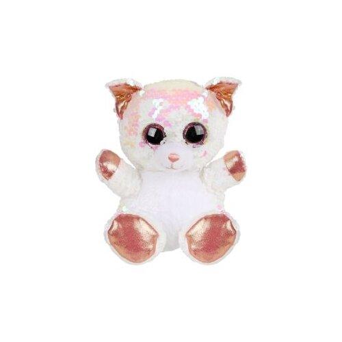 цена на Мягкая игрушка Fluffy Family Котенок из пайеток 15 см