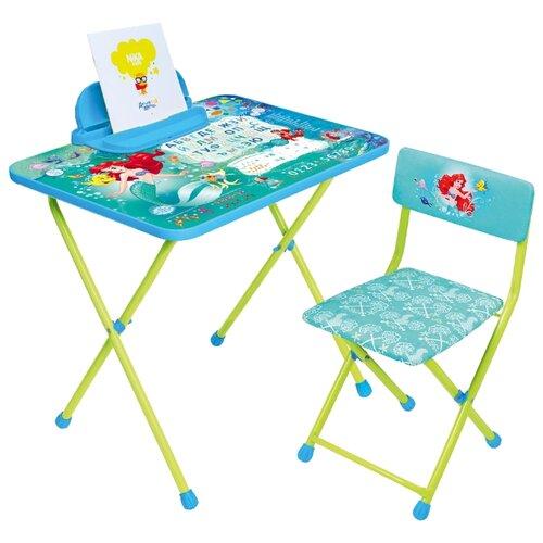Купить Комплект Nika Русалочка (Д4РУ) 60x45 см синий/зеленый, Парты и столы
