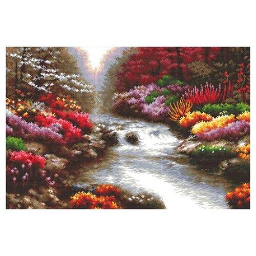 Купить Hobby & Pro Набор для вышивания Ручей в саду 54 х 36 см (S-077), Наборы для вышивания