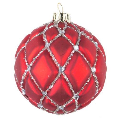 Набор шаров KARLSBACH 08434, красный/серебристый