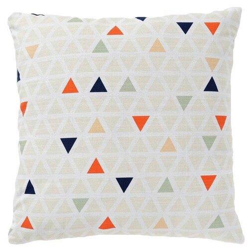 Чехол для подушки Этель Треугольники (4126952), 45 х 45см бежевый