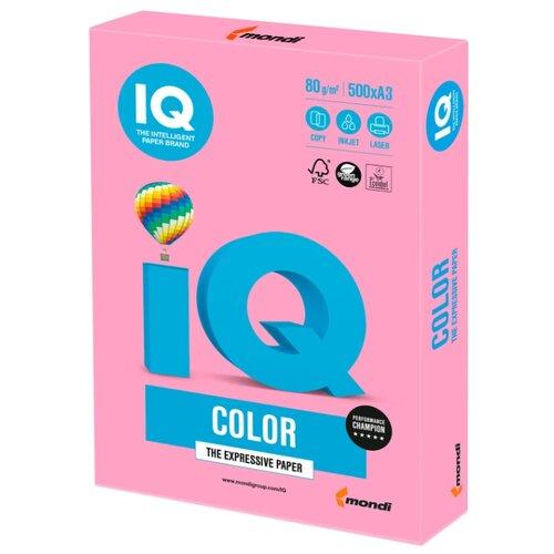 Фото - Бумага IQ Color A3 80 г/м² 500 лист. розовый PI25 1 шт. бумага iq color а4 80 г м² 100 лист розовый неон neopi 1 шт