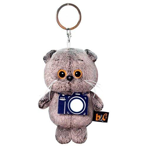 Купить Игрушка-брелок Basik&Co Кот Басик с фотоаппаратом 12 см, Мягкие игрушки