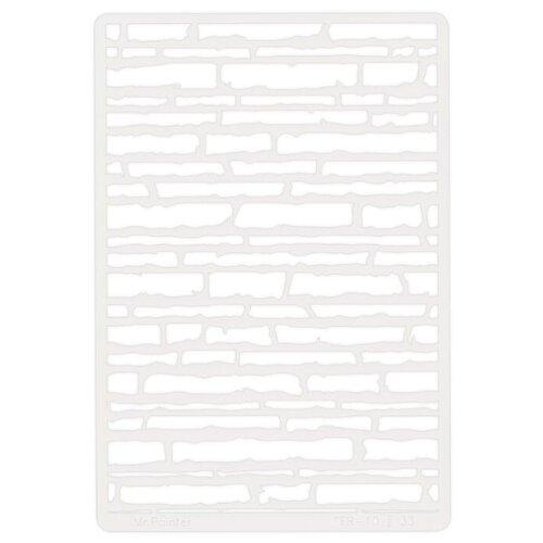 Купить Трафарет для скрапбукинга Mr. Painter Кирпичи №2 TFR-10 серый, Инструменты и аксессуары