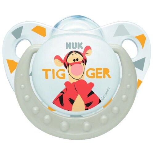 Пустышка силиконовая ортодонтическая NUK Disney Winnie the Pooh Soother 6-18 м (1 шт) белыйПустышки и аксессуары<br>