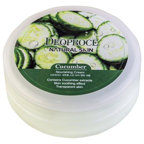 Фото - Крем для тела Deoproce Natural Skin Cucumber Nourishing Cream, 100 г крем для тела deoproce natural skin olive nourishing cream 100 г