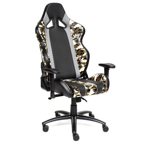 Компьютерное кресло TetChair iBrave игровое, обивка: искусственная кожа, цвет: черный/хаки компьютерное кресло tetchair барон обивка искусственная кожа цвет бежевый