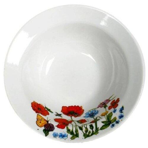 Дулёвский фарфор Миска круглая Цветущий луг 300 мл белый