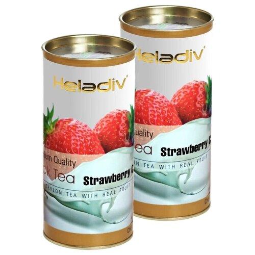 Чай черный Heladiv Premium Quality Black Tea Strawberry Сream, 100 г, 2 уп. чай черный heladiv pekoe classic black tea 100 г 2 уп