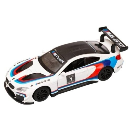 Купить Легковой автомобиль Автопанорама BMW M6 (JB1251213) 1:43 белый, Машинки и техника