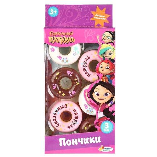 Купить Набор продуктов Играем вместе Сказочный патруль Пончики B1592277 розовый, Игрушечная еда и посуда