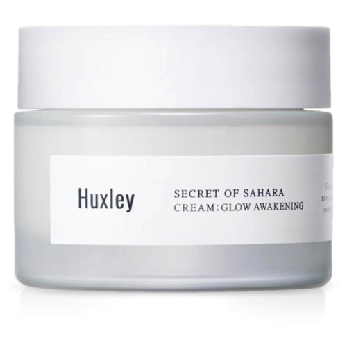 Huxley Secret of Sahara Cream: Glow Awakening Крем для лица осветляющий, 50 мл huxley secret of sahara essence brightly ever after сыворотка для сияния кожи лица 30 мл