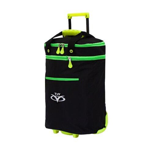 Дорожная сумка TSV на колесах 526,32 черный/лимон