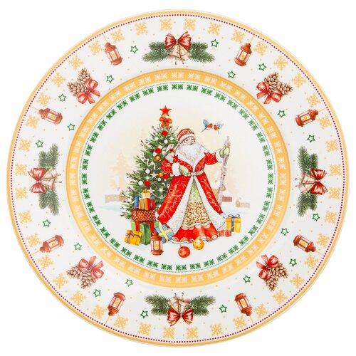 Тарелка закусочная lefard с новым годом! елка 21 см Lefard (85-1632)