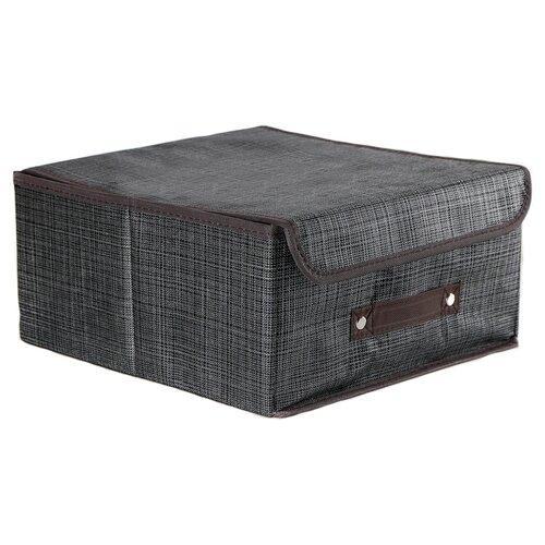 Доляна Короб для хранения с крышкой 30 х 28 х 15 см пастель доляна кофр для хранения вещей 80 х 45 х 15 см волна