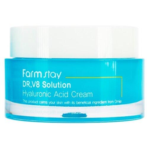 Farmstay DR.V8 Solution Hyaluronic Acid cream Крем для лица с гиалуроновой кислотой, 50 мл крем лифтинг bliss organic с пребиотиком и гиалуроновой кислотой для лица 50 мл