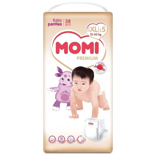 Momi трусики Premium (12-20 кг) 38 шт. momi трусики m 6 10 кг 44 шт