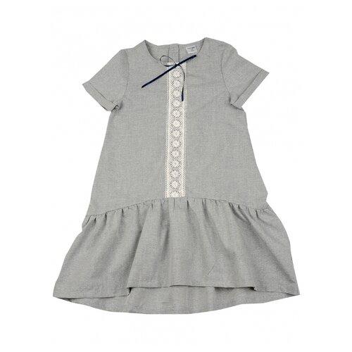 Купить Платье Mini Maxi размер 122, серый, Платья и сарафаны