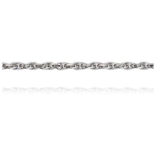 АДАМАС Цепь из белого золота плетения Якорь одинарный ЦЯ230А8П-А58, 45 см