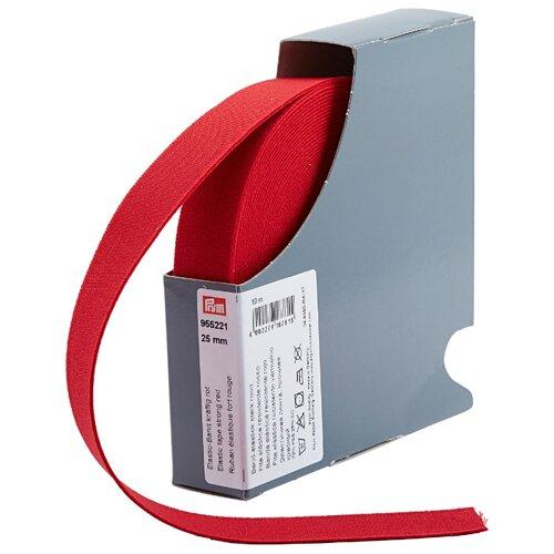 Купить Prym Прочная эластичная лента (955221), красный 2.5 см х 10 м, Технические ленты и тесьма