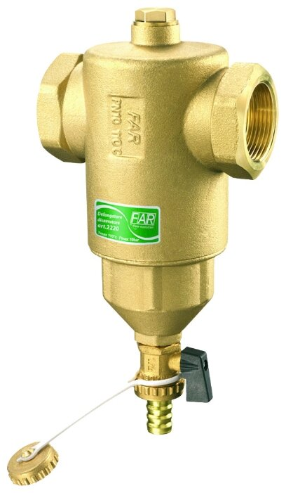 Фильтр механической очистки FAR FA 2200 34 муфтовый (ВР/ВР), латунь