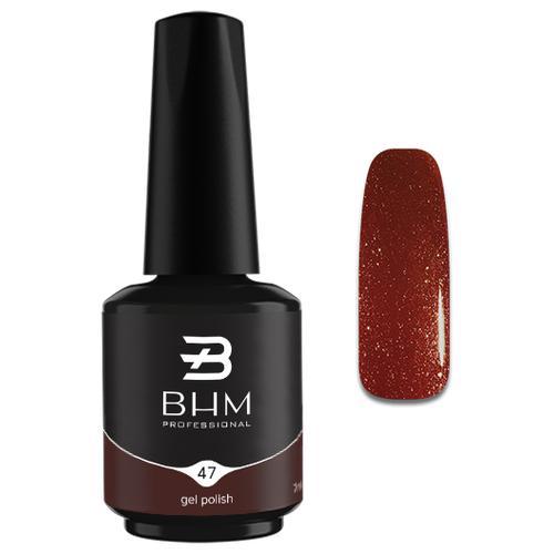 Гель-лак для ногтей BHM Professional Gel Polish, 7 мл, оттенок №047 Starlit night гель лак для ногтей bhm professional gel polish 7 мл оттенок 135