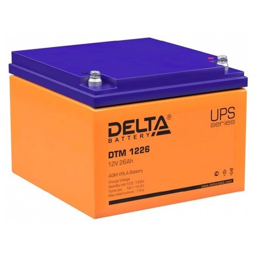 Аккумуляторная батарея DELTA Battery DTM 1226 26 А·ч аккумуляторная батарея delta battery dtm 12250 i 250 а·ч