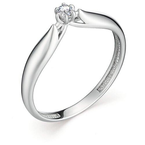 АЛЬКОР Кольцо с 1 бриллиантом из белого золота 12896-200, размер 17 алькор кольцо с 1 бриллиантом из белого золота 12869 200 размер 17 5