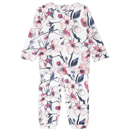 Купить Комплект одежды playToday размер 74, белый/серый/светло-розовый, Комплекты