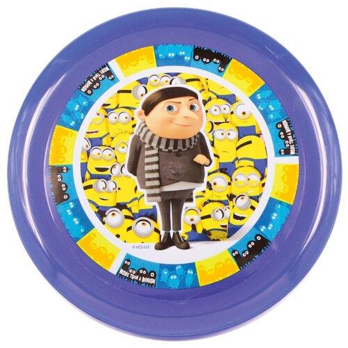 ND Play Тарелка Миньоны 2 - Миньоны и Грю 20 см фиолетовый/желтый printio миньоны