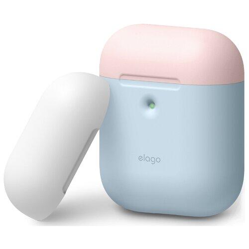 Чехол Elago A2 Duo pastel blue/white/pink