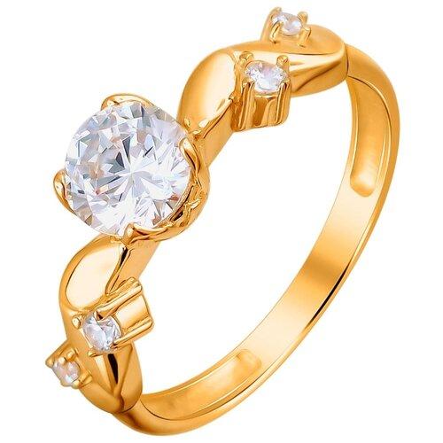 Эстет Кольцо с 5 фианитами из красного золота 01К1111981, размер 17 ЭСТЕТ