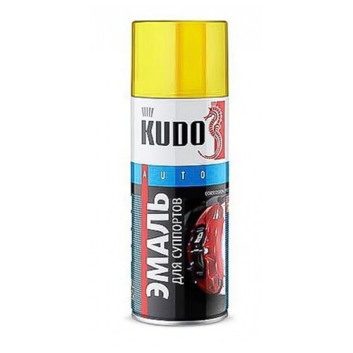 цена на KUDO аэрозольная Эмаль для суппортов 520 мл желтый