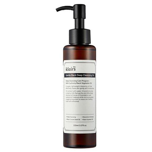 Купить Klairs гидрофильное масло для снятия макияжа и умывания Gentle Black Deep Cleansing Oil, 150 мл