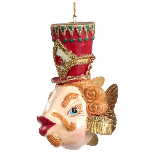 Елочная игрушка Goodwill Рыбка 13 см (B 95600) красный.