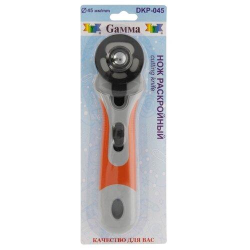Gamma Нож раскройный DKP-045 d 45 мм белый/оранжевый, Инструменты и аксессуары  - купить со скидкой