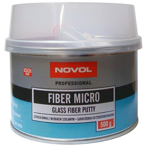 Комплект (шпатлевка, отвердитель) NOVOL FIBER MICRO 0.5 кг