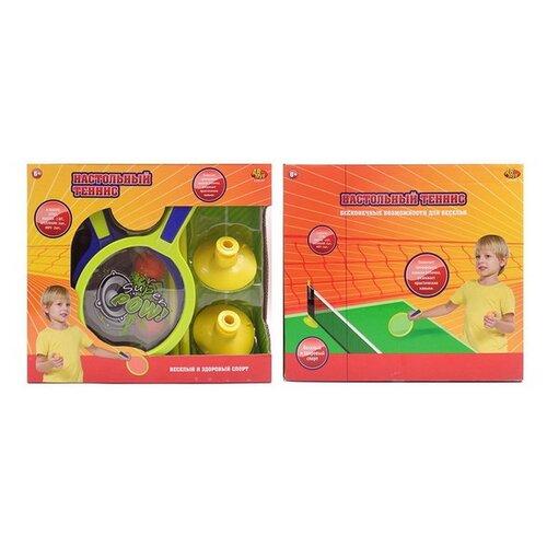 Фото - Настольный теннис ABtoys набор с сеткой, ракеткой, шариками (S-00157) набор abtoys бадминтон и теннис s 00176