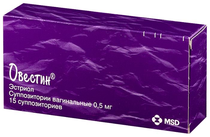 Овестин супп. ваг. 0,5мг №15