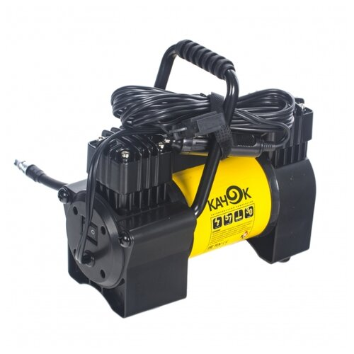 Автомобильный компрессор Качок К90X2C желтый