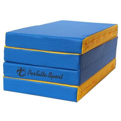Спортивный мат 2000х1000х100 мм Perfetto Sport № 5 сине/жёлтый