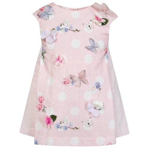Платье Lapin House размер 86, розовый/цветочный принт