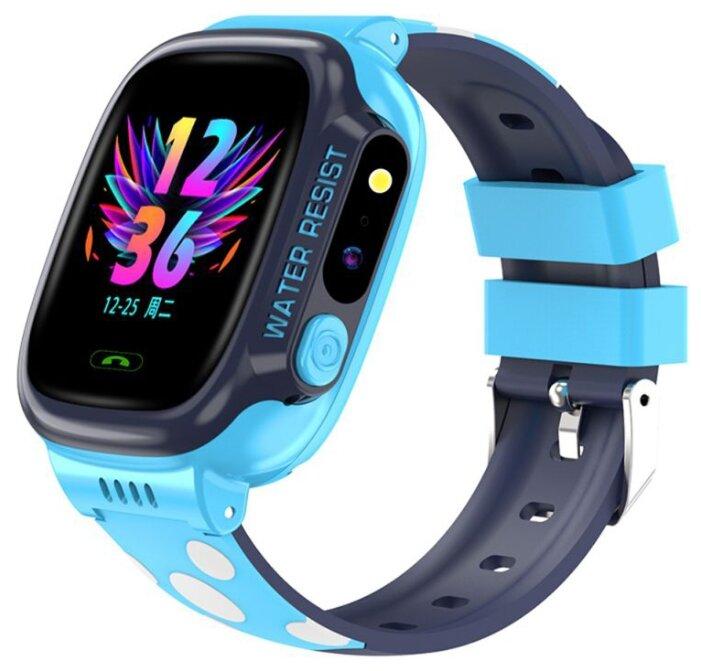 Умные детские часы с телефоном и GPS трекером Smart Baby Watch Y92 (Голубой)