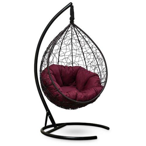 Подвесное кресло-кокон Laura Outdoor Sevilla Verde, коричневый/бордовый