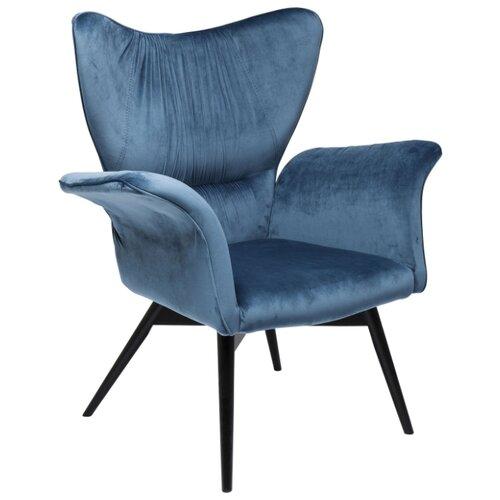 Дизайнерское кресло KARE Wall Street размер: 86х83 см, обивка: ткань, цвет: черный/синий
