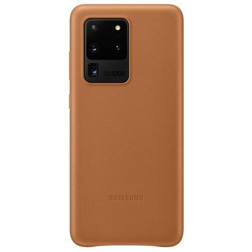 Чехол-накладка Samsung EF-VG988 для Galaxy S20 Ultra, Galaxy S20 Ultra 5G коричневый чехол накладка samsung ef pg988 для galaxy s20 ultra galaxy s20 ultra 5g серый